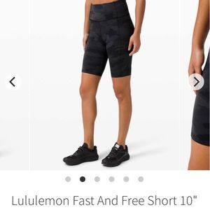 "Lululemon Fast and Free 10"" Short"